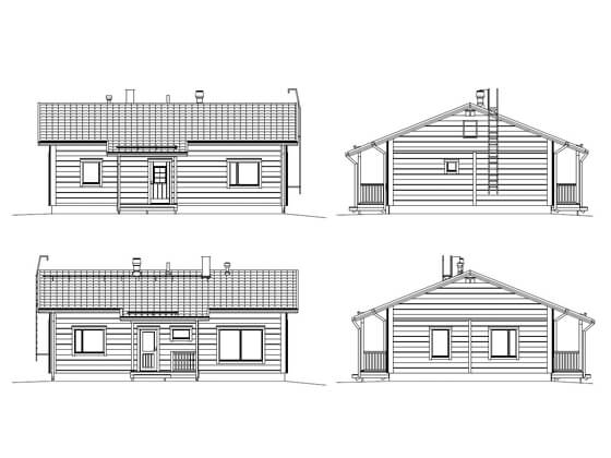 log house elevations